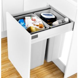 Pullboy-Z 52L 2-Compartment Recycler 827WS516-11: 500mm Door