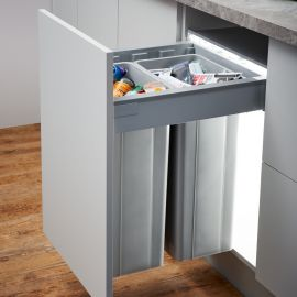 Wesco Pullboy-Z 64L Recycler 827518-11: 500mm Door