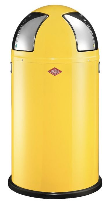 Push Two 50L Recycling Bin in Yellow - 175861-19
