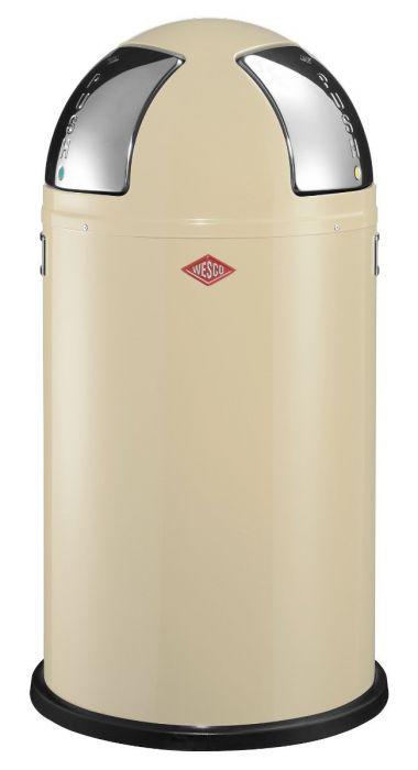 Wesco Push Two Recycling Bin in Almond - 50L - 175861-23
