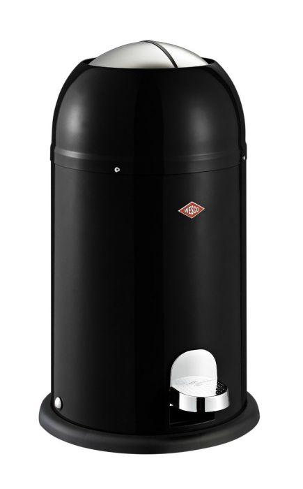 Kickmaster Junior Single Compartment Pedal Bin 12L Black