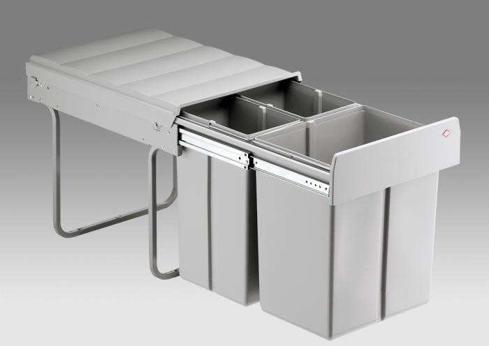 Bio Trio 40L 3-Compartment Recycler 757WS721-85: 400mm Door