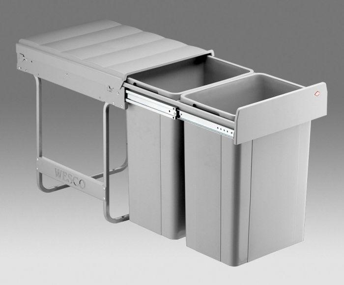 Big Bio Double 52L 2-Compartment Recycler 757WS811-85: 400mm Door