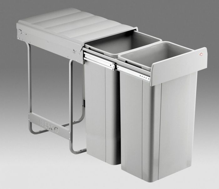 Big Bio Double 64L 2-Compartment Recycler 757WS812-85: 400mm Door