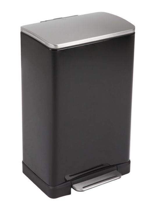 E-Cube Single Compartment 40L Pedal Bin - Black - VB 926840 BLK