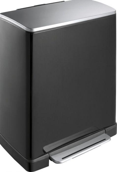 E-Cube Single Compartment 50L Pedal Bin- Black - VB 926850 BLK