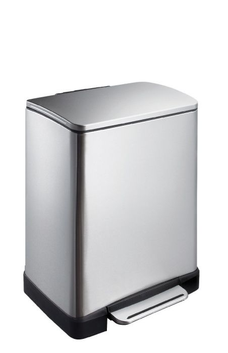 E-Cube 2-Compartment 19L Recycling Bin: Stainless Steel VB 926819 SS