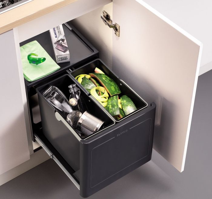 Pro 2 Compartment 26L Recycler: 450mm Door