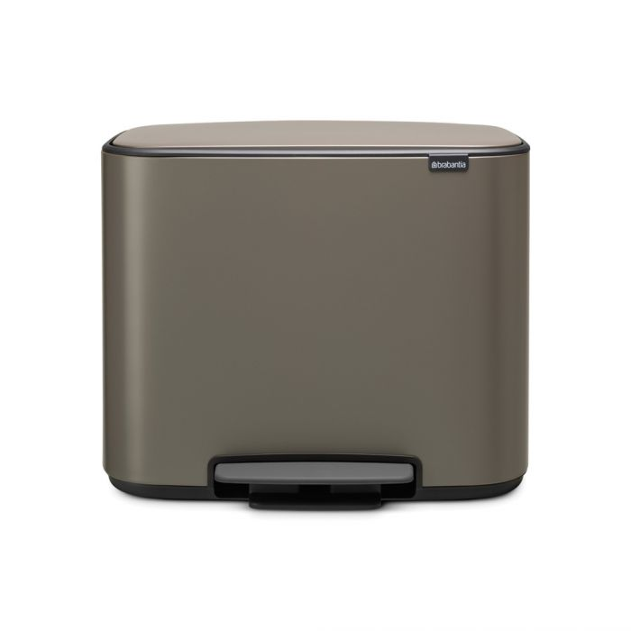 Bo Pedal Single Compartment Bin 36 Litres - Platinum: 121449