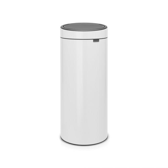 Round Touch Bin 30L White - 115141