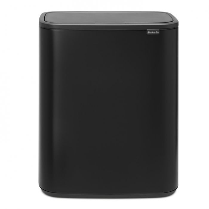 Bo Touch 60 Litre Single Compartment Bin - Matt Black
