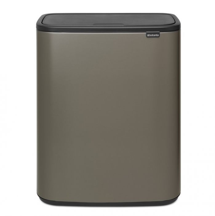 Bo Touch 60 Litre Single Compartment Bin - Platinum