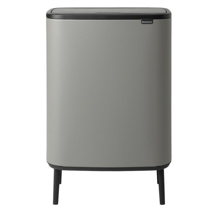 Bo Hi Touch 60 Litre 2-Compartment Recycling Bin - Concrete Grey
