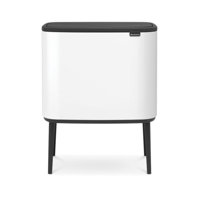 Bo Touch Single Compartment Bin 36 Litres - White