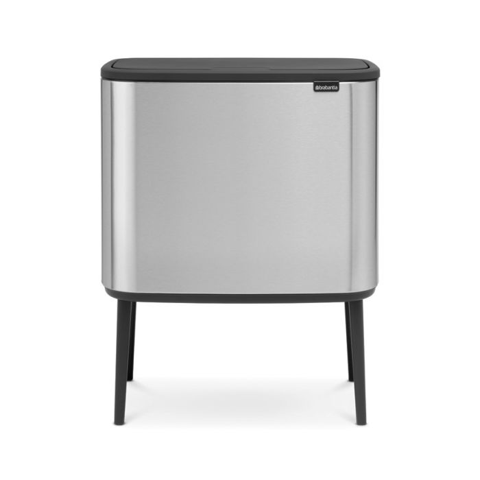 Bo Touch Triple Recycling Bin 33 Litres - Matt Steel