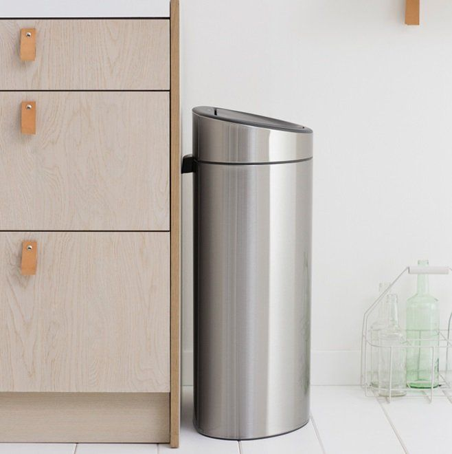 Brabantia Touch Bin Ovaal.Recycling Twin Compartment 33l Touch Bin 112867
