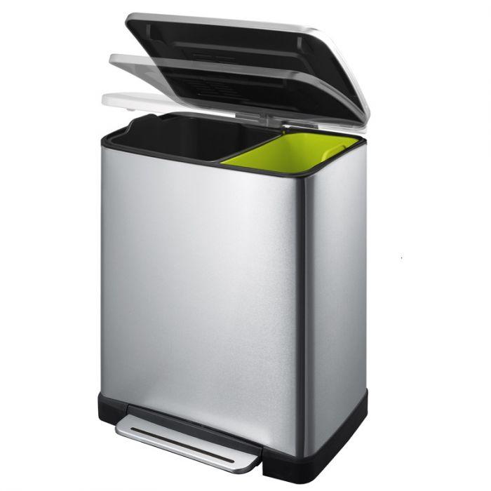sirena Riconciliare lho trovato  EKO E-Cube Black 2-Compartment Recycling Bin - 46L | Binopolis