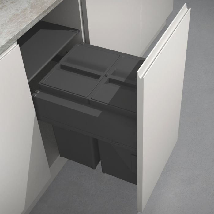 Linea 580 Plus 2 Compartment 58L Recycler with OVERALL LID : 450mm Door