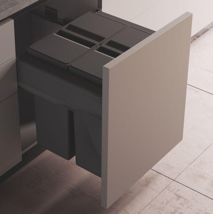 Linea 580 Plus 2 Compartment 80L Recycler : 600mm Door