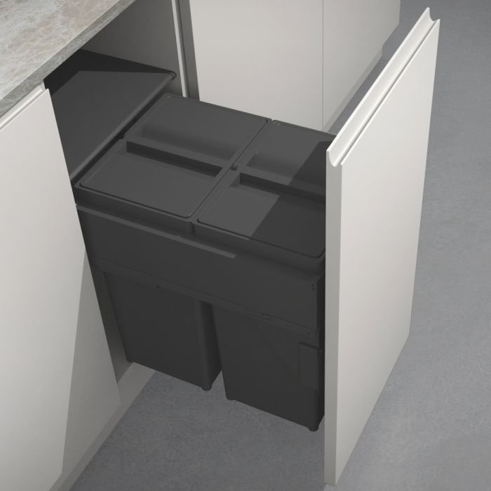 Linea 580 Plus 2 Compartment 58L Recycler With OVERALL LID : 400mm Door