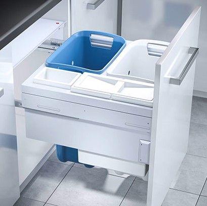4 Compartment Built in Laundry Bin 80.5L: 600mm Door
