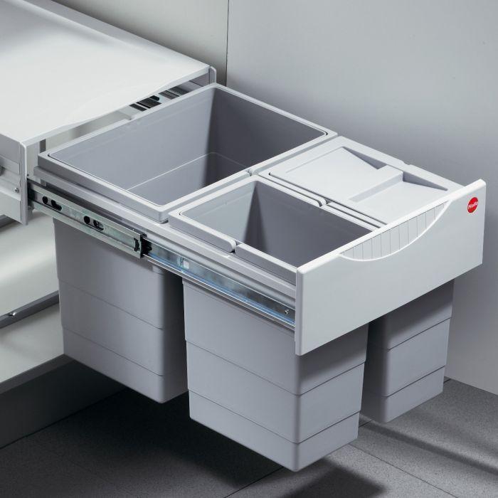 Tandem 3 Compartment 35L Recycler: 400mm Door