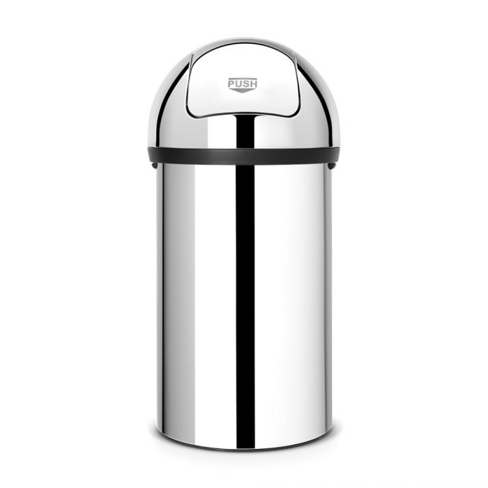 Push Bin 60 Litres - Brilliant Steel: 402623