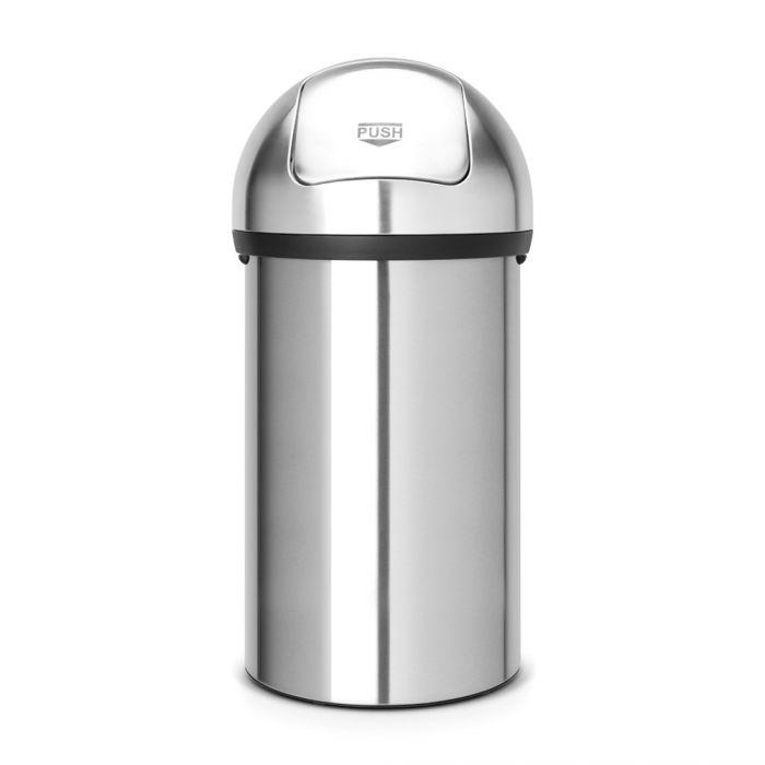 Push Bin 60 Litres - Matt Stainless Steel: 484520