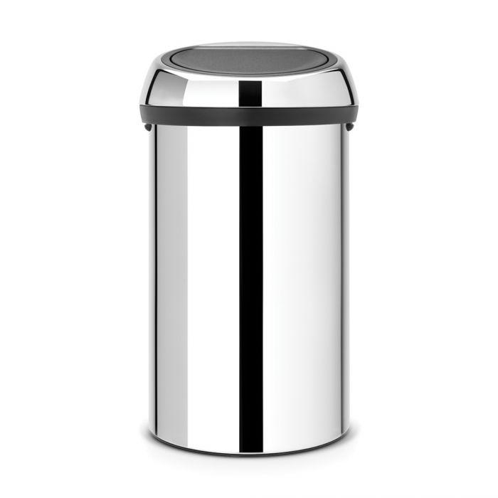 Touch Bin 60 Litres - Brilliant Steel : 402609