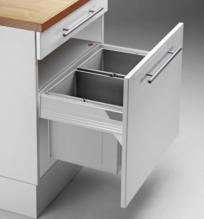 Pullboy-Z 34L 2-Compartment Recycler 829WS603-11N: 600mm Door